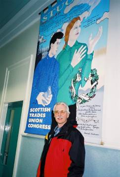 Daniel McGowan at the Scottish Trades Union Congress, April 9, 2001.